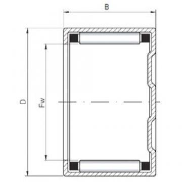 ISO BK1612 roulements à rouleaux cylindriques