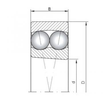 105 mm x 190 mm x 36 mm  ISO 1221K roulements à billes auto-aligneurs