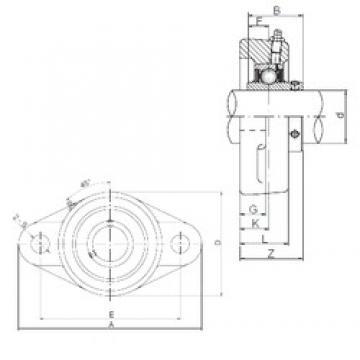 75 mm x 195 mm x 82 mm  ISO UCFL315 unités de roulement
