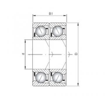 ISO 7240 BDT roulements à billes à contact oblique