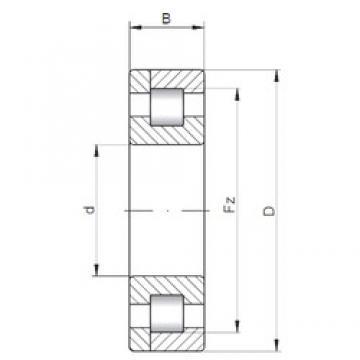 400 mm x 500 mm x 46 mm  ISO NP1880 roulements à rouleaux cylindriques