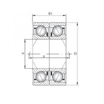 ISO 7212 CDB roulements à billes à contact oblique