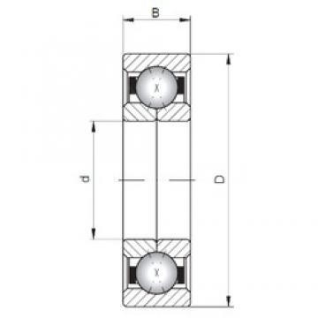 ISO QJ1244 roulements à billes à contact oblique