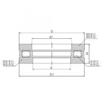 ISO 81192 roulements à rouleaux de poussée