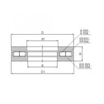 ISO 89434 roulements à rouleaux de poussée