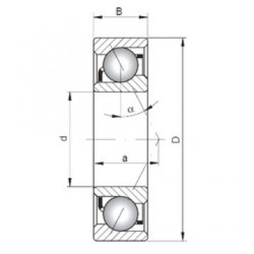 170 mm x 360 mm x 72 mm  ISO 7334 A roulements à billes à contact oblique
