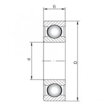500 mm x 620 mm x 56 mm  ISO 618/500 roulements rigides à billes