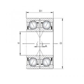ISO 7202 ADF roulements à billes à contact oblique