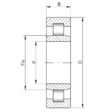 120 mm x 215 mm x 58 mm  ISO NU2224 roulements à rouleaux cylindriques