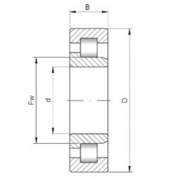 320 mm x 480 mm x 121 mm  ISO NJ3064 roulements à rouleaux cylindriques