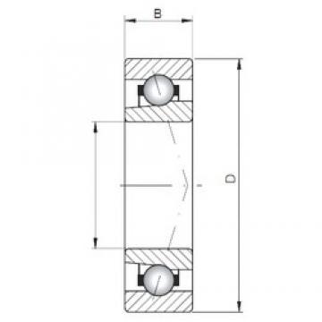 ISO 71815 A roulements à billes à contact oblique
