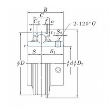 50,8 mm x 100 mm x 55,6 mm  KOYO ER211-32 roulements rigides à billes
