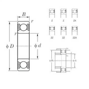 160 mm x 240 mm x 38 mm  KOYO 6032ZX roulements rigides à billes