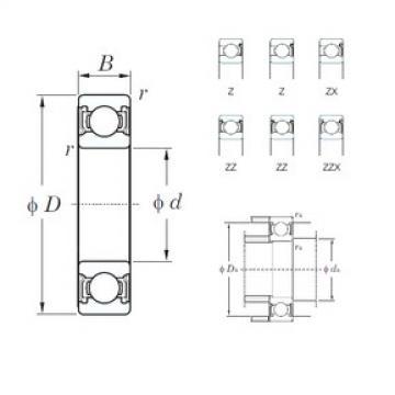 90 mm x 115 mm x 13 mm  KOYO 6818Z roulements rigides à billes
