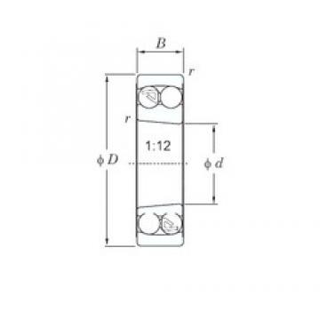 55 mm x 100 mm x 25 mm  KOYO 2211K roulements à billes auto-aligneurs