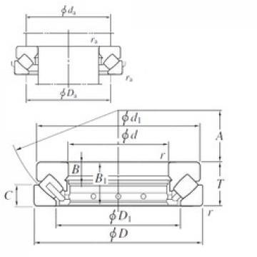 600 mm x 1030 mm x 92 mm  KOYO 294/600 roulements à rouleaux de poussée