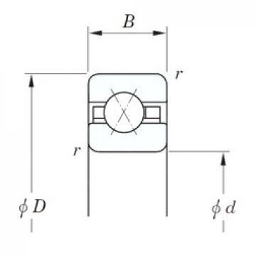 508 mm x 546,1 mm x 19,05 mm  KOYO KFX200 roulements à billes à contact oblique