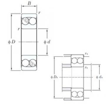 70 mm x 125 mm x 24 mm  KOYO 1214 roulements à billes auto-aligneurs