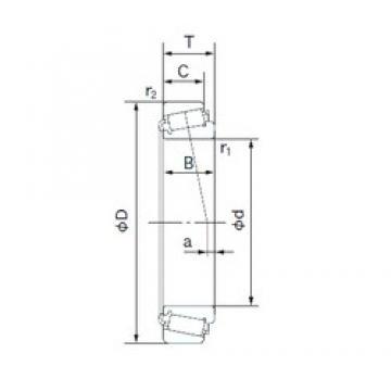 45.242 mm x 73.431 mm x 19.812 mm  NACHI LM102949/LM102910 Roulements à rouleaux coniques