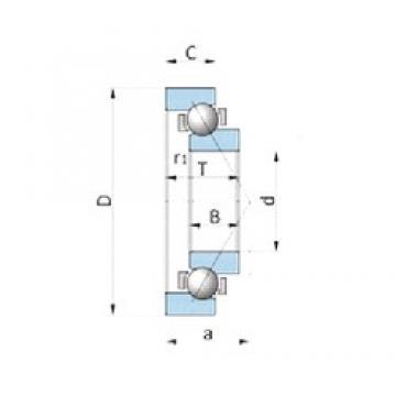 NTN SF1551 roulements à billes à contact oblique