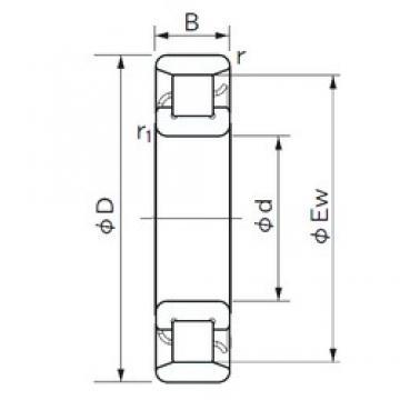 160 mm x 340 mm x 68 mm  NACHI N 332 roulements à rouleaux cylindriques