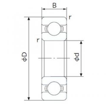 25 mm x 47 mm x 12 mm  NACHI 6005 roulements rigides à billes