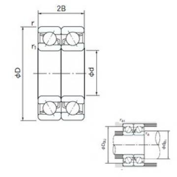 80 mm x 140 mm x 26 mm  NACHI 7216BDB roulements à billes à contact oblique