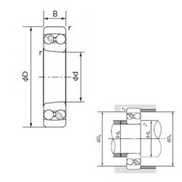 45 mm x 100 mm x 25 mm  NACHI 1309K roulements à billes auto-aligneurs