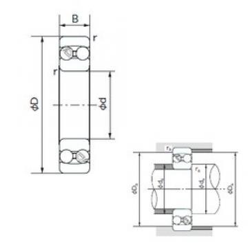 80 mm x 170 mm x 58 mm  NACHI 2316 roulements à billes auto-aligneurs