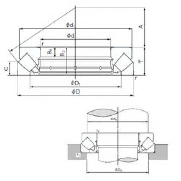 460 mm x 800 mm x 74 mm  NACHI 29492E roulements à rouleaux de poussée