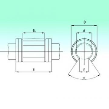 25 mm x 40 mm x 58 mm  NBS KNO2558-PP roulements linéaires