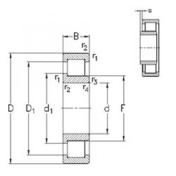 105 mm x 260 mm x 60 mm  NKE NJ421-M roulements à rouleaux cylindriques