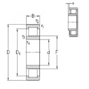 70 mm x 180 mm x 42 mm  NKE NU414-M roulements à rouleaux cylindriques