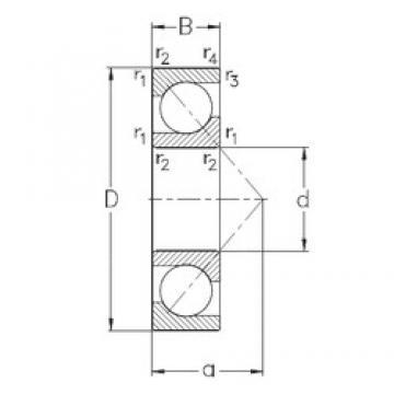 130 mm x 230 mm x 40 mm  NKE 7226-BCB-MP roulements à billes à contact oblique