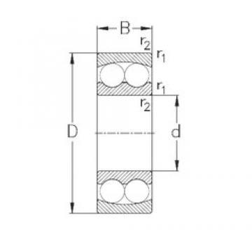 25 mm x 52 mm x 18 mm  NKE 2205 roulements à billes auto-aligneurs