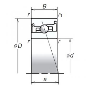 40 mm x 68 mm x 18 mm  NSK 40BNR20XV1V roulements à billes à contact oblique