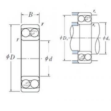 105 mm x 225 mm x 77 mm  NSK 2321 roulements à billes auto-aligneurs