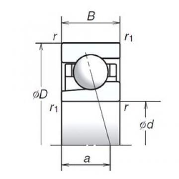 25 mm x 42 mm x 9 mm  NSK 25BGR19H roulements à billes à contact oblique