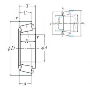 447,675 mm x 552,45 mm x 44,45 mm  NSK 80176/80217 roulements à rouleaux cylindriques