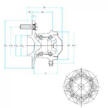 NSK 49BWKH04A roulements à billes à contact oblique