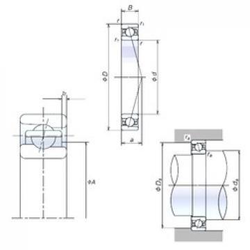 70 mm x 100 mm x 16 mm  NSK 70BER19S roulements à billes à contact oblique