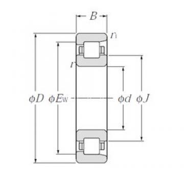240 mm x 500 mm x 95 mm  NTN NF348 roulements à rouleaux cylindriques