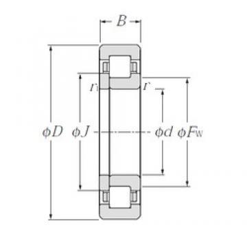 60 mm x 95 mm x 18 mm  NTN NUP1012 roulements à rouleaux cylindriques