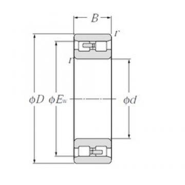 105 mm x 145 mm x 40 mm  NTN NN4921 roulements à rouleaux cylindriques