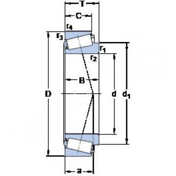 41.275 mm x 76.2 mm x 17.384 mm  SKF 11162/11300/Q Roulements à rouleaux coniques