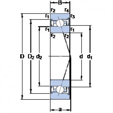 85 mm x 130 mm x 22 mm  SKF S7017 ACB/P4A roulements à billes à contact oblique