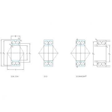 55 mm x 120 mm x 49,2 mm  SKF 3311DMA roulements à billes à contact oblique