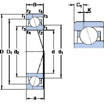 60 mm x 85 mm x 13 mm  SKF 71912 ACE/P4AH1 roulements à billes à contact oblique
