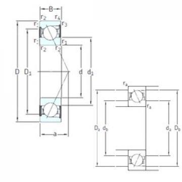 110 mm x 200 mm x 38 mm  SKF S7222 ACD/P4A roulements à billes à contact oblique