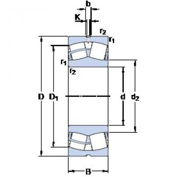 35 mm x 72 mm x 23 mm  SKF 22207 E roulements à rouleaux sphériques